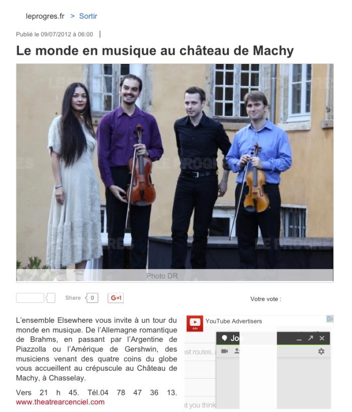 Sortir _ Le monde en musique au château de Machy